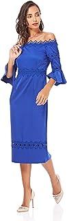 Little Mistress Casual Bodycon Dress For Women - Blue 8 UK