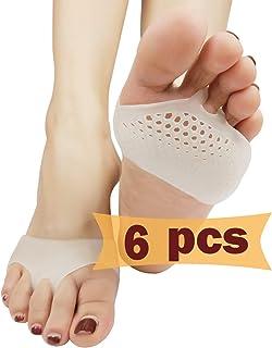Almohadillas metatarsales, separador de dedos, separadores de dedos de gel metatarso, nuevo material, almohadillas para antepiés, separadores de dedos, mejor para pies diabéticos, dolor de antepié