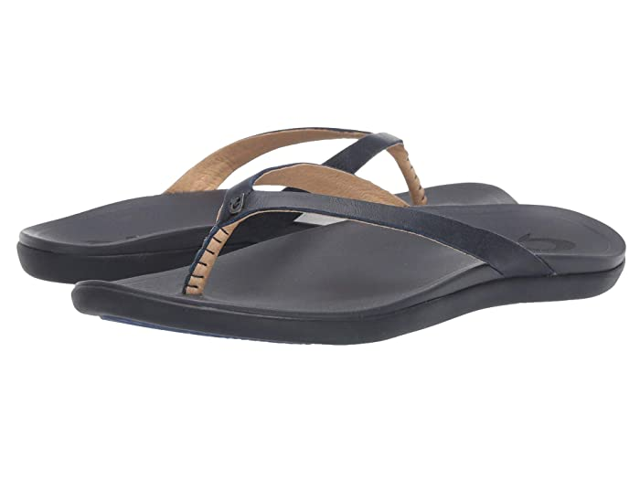Ho'opio Leather  Shoes (Navy/Trench Blue) Women's Sandals