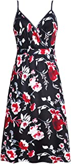 Fashion Sling Dress Comfortable & Breathable with Flower Digital Printing Braces Skirt for Summer