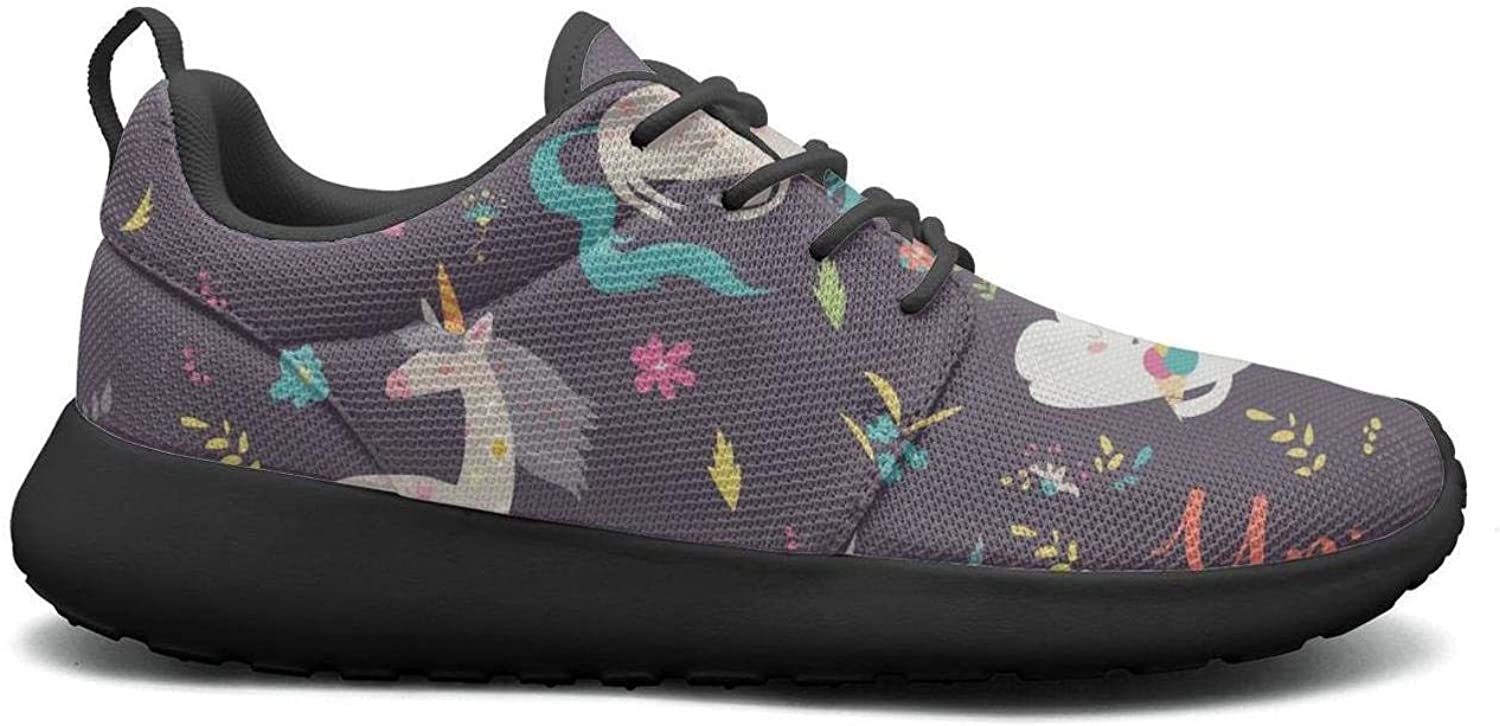 Gjsonmv Happy Unicorn mesh Lightweight shoes for Women Summer Sports Track Sneakers shoes