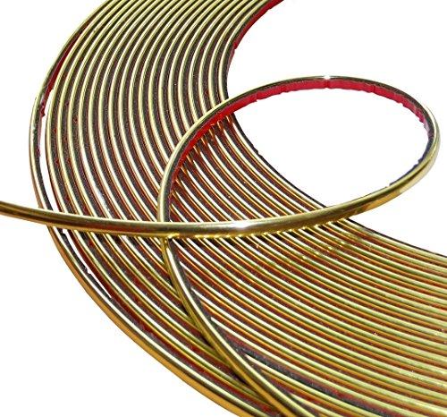 Aerzetix: 4mm 4.5m Stick Klebeband goldene Farbe Gold