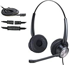 $32 » MKJ Cisco Headset with Noise Cancelling Mic Corded RJ9 Telephone Headset for Cisco Phone CP-7821, 7841, 7942G, 7945G, 7960...