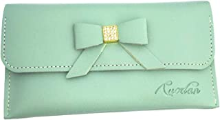 Mukart Wallet for Women Made with Artificial Lather and Crystal Beads Wallet Bag