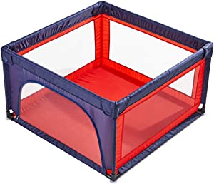 WJSW Adorable Safety Play Center Yard Baby Playpen Fabric Fence Square  Colourful