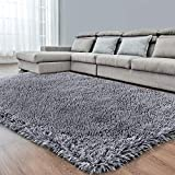Dark Grey Soft Area Rug for Bedr...