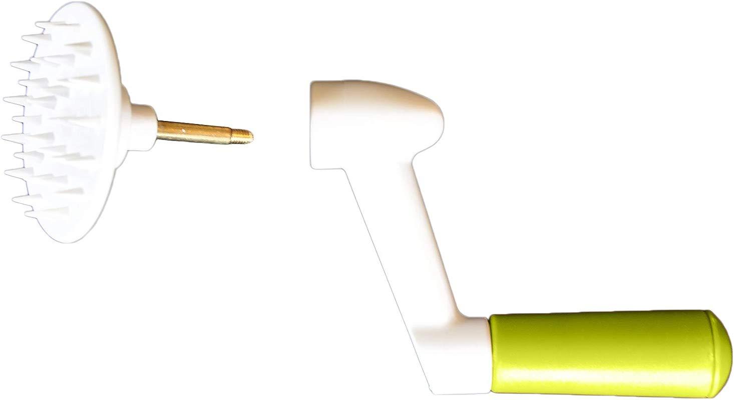 Turning Handle And Vegetable Holder For Brieftons 5 Blade Spiralizer Model BR 5B 02