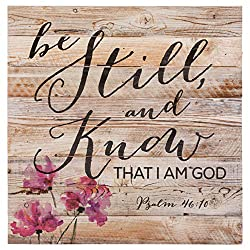 be still and know that i am God wall sign
