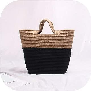 Beach Bag Handmade Rattan Woven Knitted Rivets Totes Bohemia Straw Women Shoulder Bag New