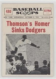 Bobby Thomson (Baseball Card) 1961 Nu-Cards Baseball Scoops - [Base] #480