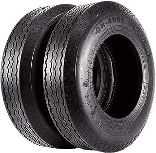 Set of 2 Heavy Duty Highway Trailer Tires 8-14.5 Load Range G 8x14.5 8-14.5 Motor Mobile Home Tire, 14PR