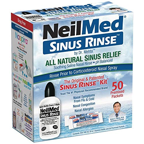 NeilMed Original Sinus flush set with 60 pre-mixed sets