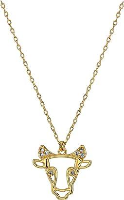 Celestial Charm Taurus Pendant Necklace