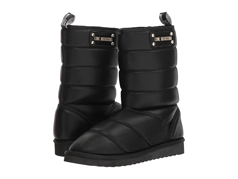 LOVE Moschino Quilted Ankle Boot (Black) Women