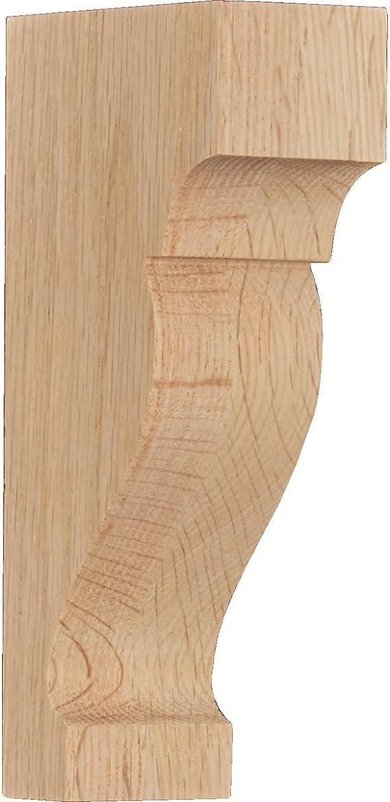 Rubberwood Ekena Millwork CORW04X02X05ABRW Wood Corbel 3 1//2W x 2D x 4 1//2H