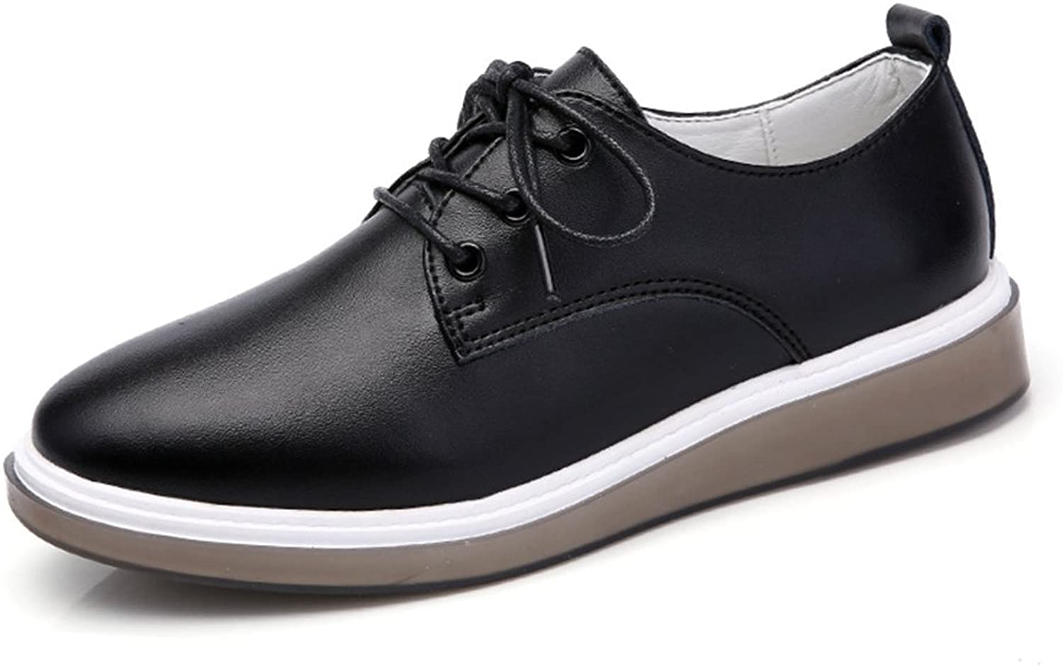 T-JULY Women's Retro Oxfords shoes - Comfy Platform Lace-up Round Toe Casual shoes