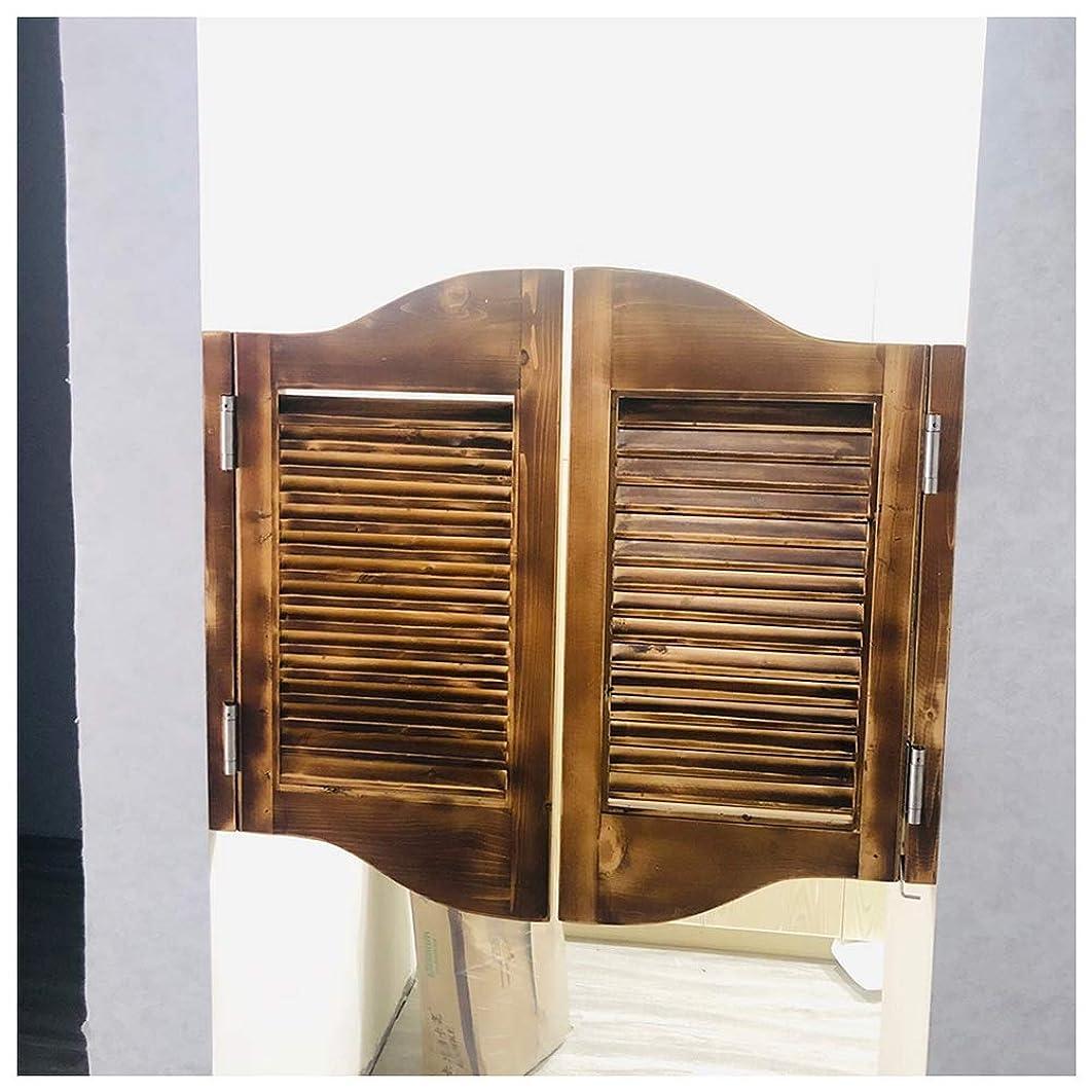 エチケット将来の避けるCAIJUN スイングドア カフェドア 無垢材 ルーバーゲート 双方向オープン 自動閉鎖 ために キッチン、 バー、 装飾パーティションドア、 カスタムカラー (Color : B, Size : 110x90cm)