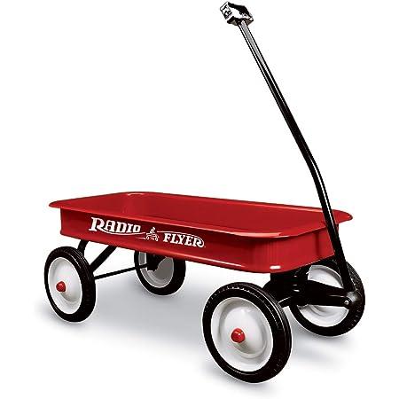 Radio Flyer ラジオフライヤー 【正規輸入代理店】 クラシックレッドワゴン Classic Red Wagon 18 2人乗り キャリーワゴン カート 折りたたみハンドル