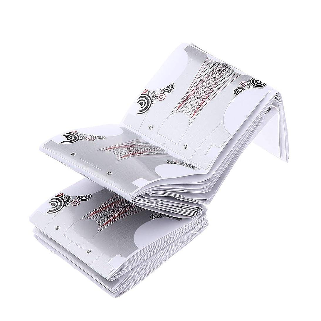 抱擁ジョガー波SM SunniMix 初心者 プロ用 ネイルフォーム ネイルアートパーツ ジェル アクリル 延長 フォームステッカー 100枚