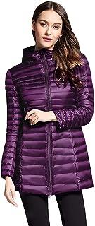 Chaqueta Ultraligera para Mujer Abrigo con Cremallera Empacable Outwear