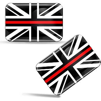 Biomar Labs/® 2 x Aufkleber 3D Gel Silikon Gro/ßbritannien England UK Great Britain Union Jack Flag Flagge Fahne Autoaufkleber F 127