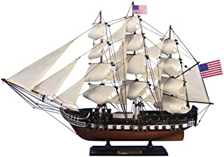 Hampton Nautical Wooden USS Constitution Tall Model Ship, 24""