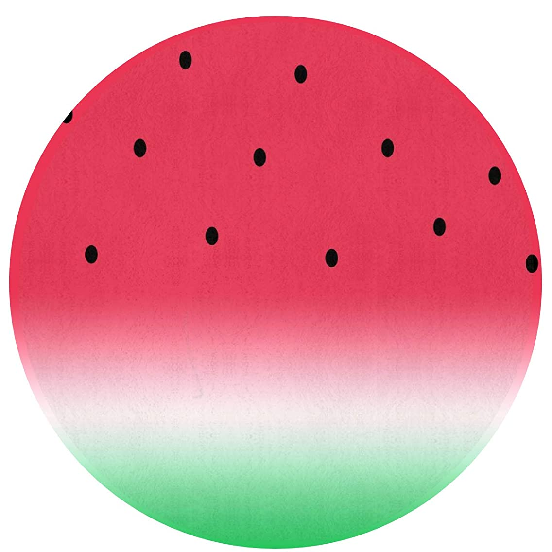 Funny Watermelon Fruit Roung Area Rug for Bedroom, Living Room, Home, Office/Memory Foam Ultra-Soft Doormat Floor Mat Entrance Rug Nursery Rugs (16 inch Diameter)