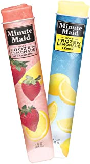 Minute Maid Soft Frozen Lemonade Strawberry Squeeze Up Tube, 4 Ounce -- 24 per case.