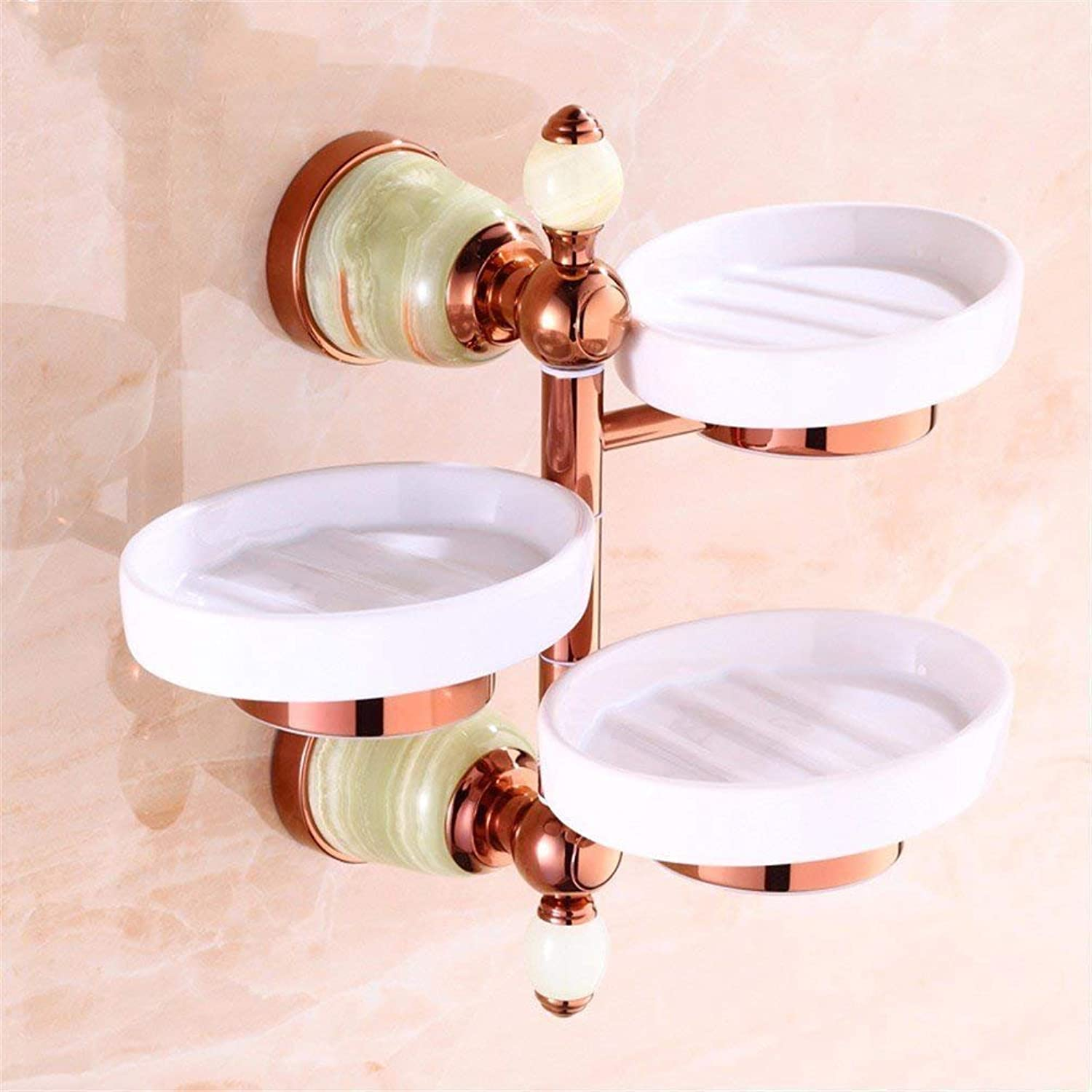 Jade Green Pink gold Small Hair-Bath Towels Accessory Kit Suspension Hook of Copper in The Dishesa,Three