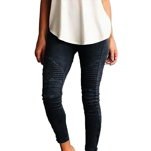 Junshan Leggings Femmes Grande Taille taille surdimensionnée Crayon Strech  coloré pour femme taille Skinny Taille Haute 3286e0f8d6a