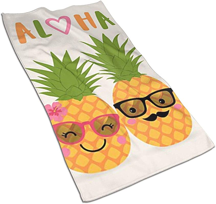 NFURTIDH Aloha Pineapple Microfiber Dish Towel 27 5 X 17 5 Inch Soft Super Absorbent Home Kitchen Towels Cloths For Spills Drying Dishes Cooking Wash Car Dish Towels