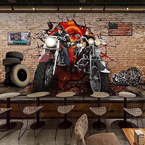 Fotobehang retro motorfiets krabber 200x150 cm vliesbehang wanddecoratie design wandbehang wanddecoratie voor woonkamer slaapkamer TV achtergrond muur