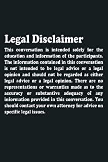 Funny Lawyer Legal Disclaimer Conversation: Notebook Planner - 6x9 inch Daily Planner Journal, To Do List Notebook, Daily ...