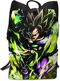 Dragon Ball Ultra Broly Backpck, Big Capacity Carry On Bag Travel Hiking & Camping Rucksack, Casual College School Daypack Gym Outdoor Hiking Bag Laptop Backpack Daypack