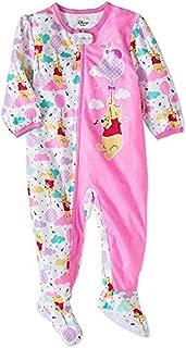 AME Winnie The Pooh Newborn Micro Fleece Footed Pajama Baby Girls