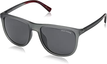 A|X Armani Exchange Men`s AX4078SF Square Asian Fit Sunglasses, Matte