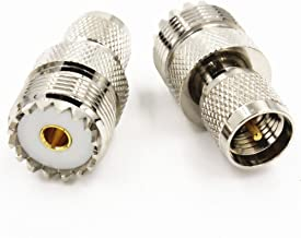 2pcs SO239 UHF Female Jack to Mini UHF Male Plug RF Adapter Connector High Quality Ships from USA