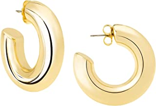 Mia Diamonds 14k GoldTri-color Polished//Textured Hoop Earring