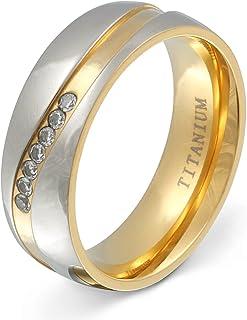 Juwelier Schönschmied - Damen Titanringe Verlobungsring Trauring Almada Titan Zirkonia inkl. persönliche Wunschgravur NrT11D