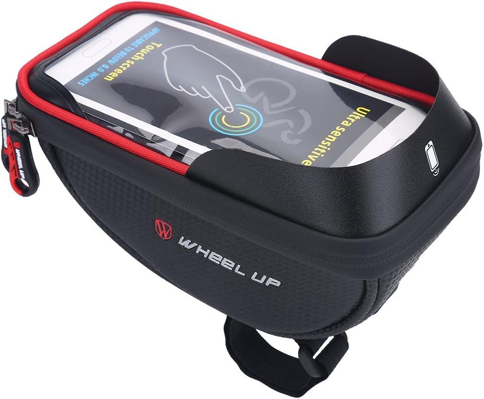 VGEBY1 Soporte para tel/éfono para Bicicletas 2 Colores Que maneja el Manillar del Ciclismo de Las Bolsas del Manillar de la Bicicleta Conveniente para el tel/éfono 6.0inch