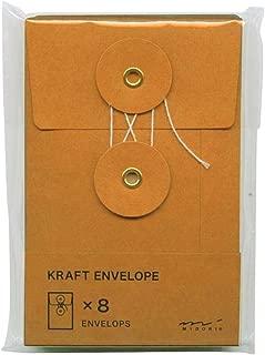 Traveler's Notebook Kraft Envelope with string - small orange
