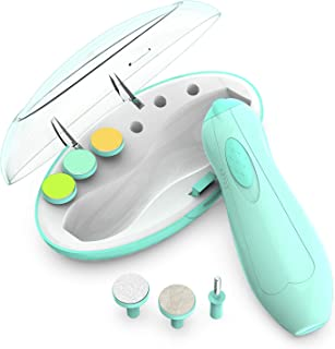 Baby Nail Clippers with Light, Lupantte Electric Baby Nail Trimmer, Safe Baby Nail File for Newborn to Toddler Toes and Fingernails, Kids Nail Care, Polish and Trim.