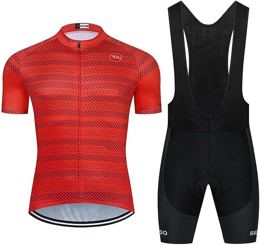SUDUSUDO Men's Cycling Jersey Set Road Max 66% OFF Short Genuine Free Shipping Sleeve Shirts Bike