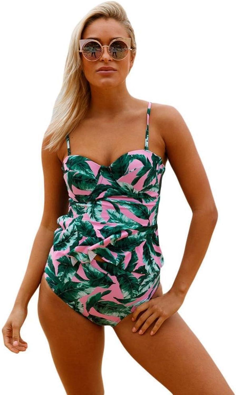 Luziang Damen Damen Damen Schwimmen Kostüm Beachwear,Stomacher Sling drucken Streifen Riemen mit Brust-Matte Split Körper und europäischen Baden B07MR2V8RX  Hochwertig bd4773