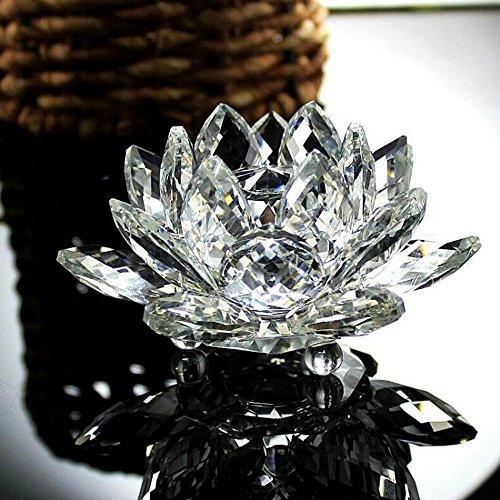 MINGXINGDE Lotus Kristallglas Kristallharz Zeichnung Stadt Dekoration Kristalle Feng Shui Deko Kristall Steine