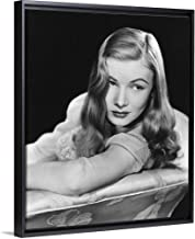 Floating Frame Premium Canvas with Black Frame Wall Art Print Entitled I Married A Witch, Veronica Lake 20