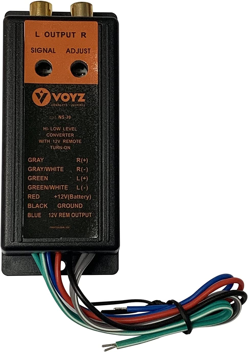 VOYZ High Low-Level Impedance Limited time sale Adaptor supreme - Car Lin Audio RCA System