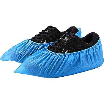 10 ex Couvre-Chaussures Jetables pour Maison chausson jetables gaufr/ées M/édical ou Hotel prorection des sols Couleur bleu qualit/é m/édicale