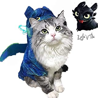 LafaVida Pet Costumes Hoodie Jacket for Dog Cat Puppy Pet Night Fury Toothless Cute Wings Tails