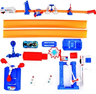 Portable Ejection Modeling DIY Delicate Track Cars, Kids Race Track Set, Above 2 Years Old
